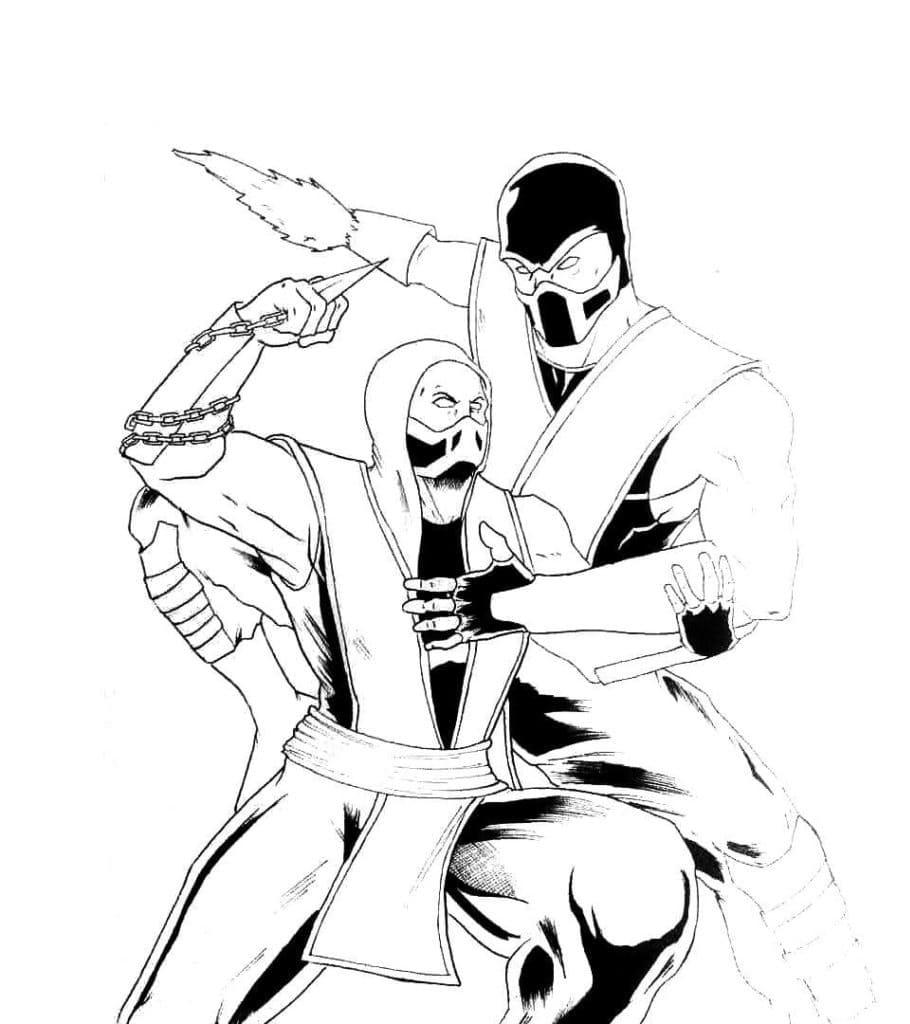 Sub-Zero and Scorpion MK