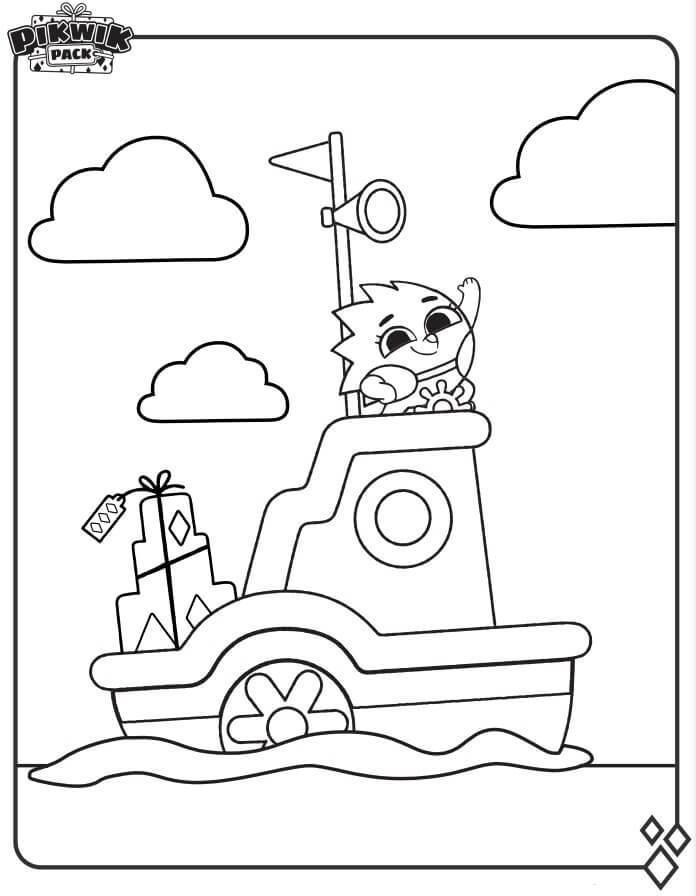 Suki on Boat