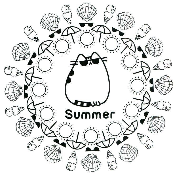 Summer Pusheen