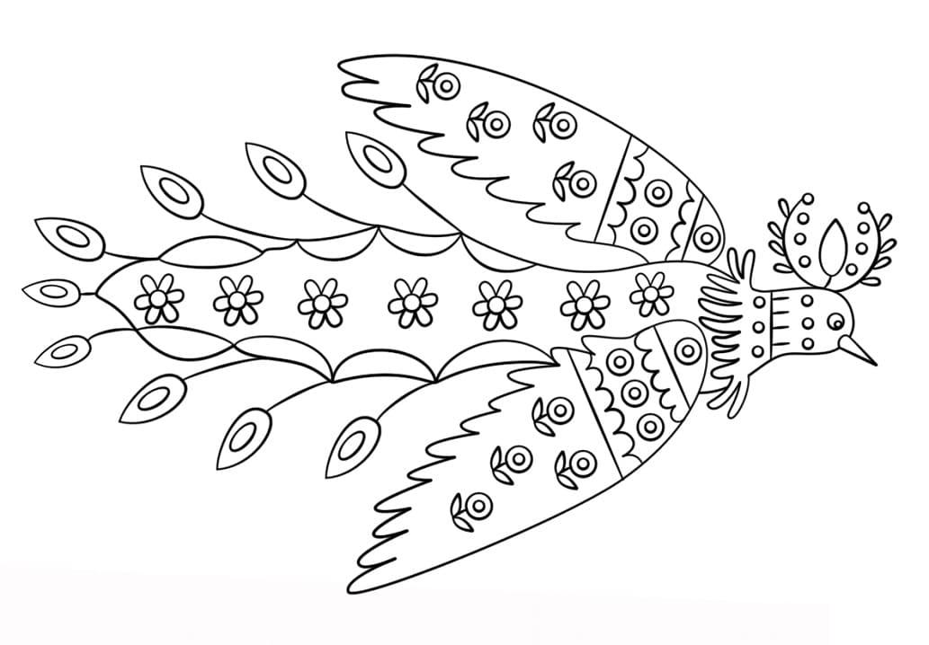 Sun Bird by Maria Prymachenko