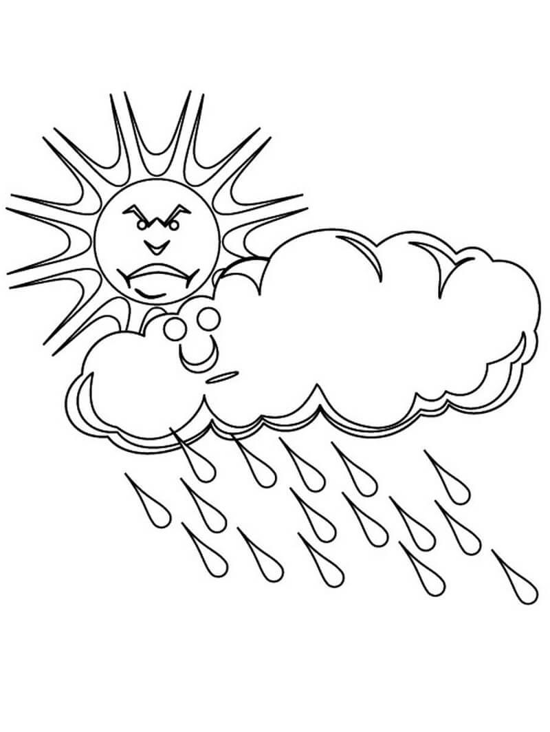 Sun and Rain Cloud