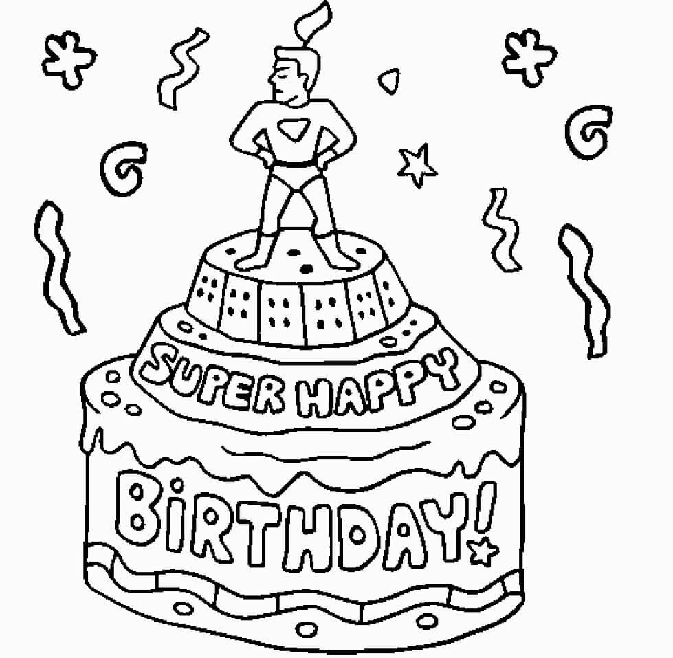 Super Happy Birthday Cake