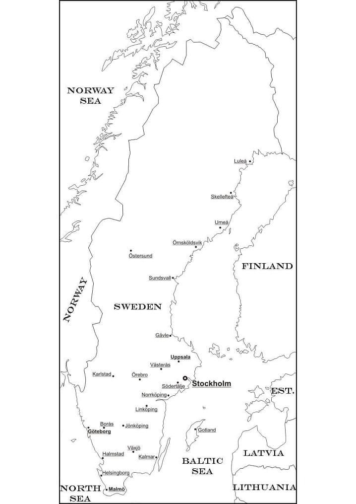 Sweden Map 1