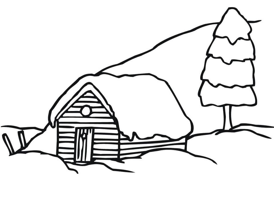 Sweden Winter Rural Landscape