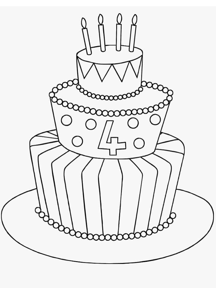 Tall Birthday Cake