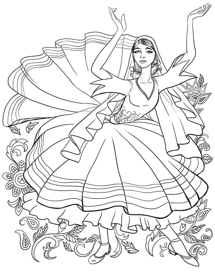 Tatar Girl Dancing