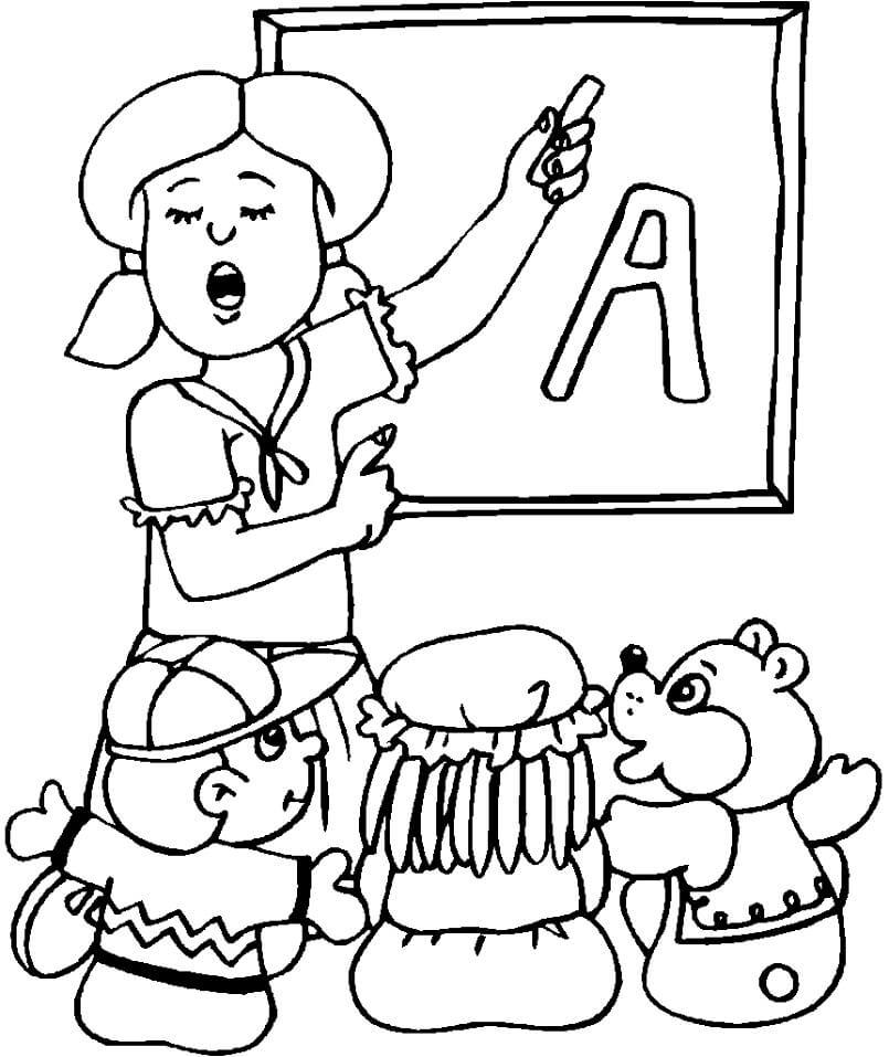 Teacher is Teaching