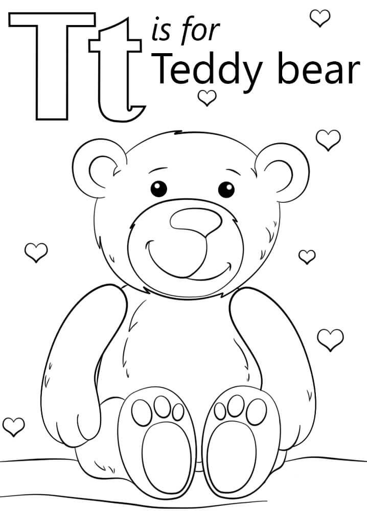 Teddy Bear Letter T