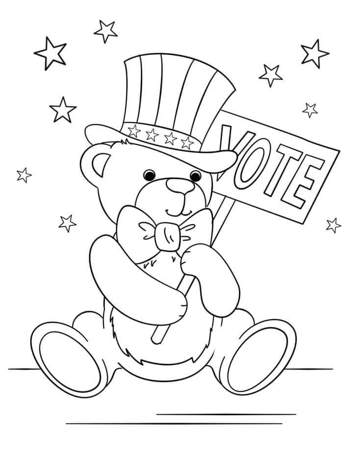 Teddy Bear Patriotic