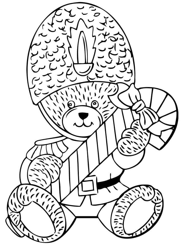 Teddy Bear with Candy Cane