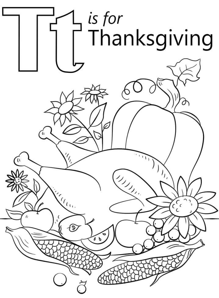 Thanksgiving Letter T
