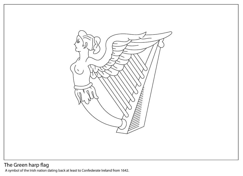 The Green Harp Flag