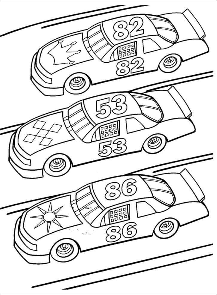 Three Race Cars