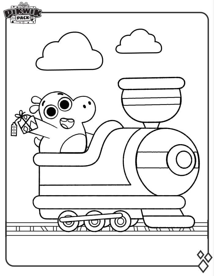 Tibor on Train