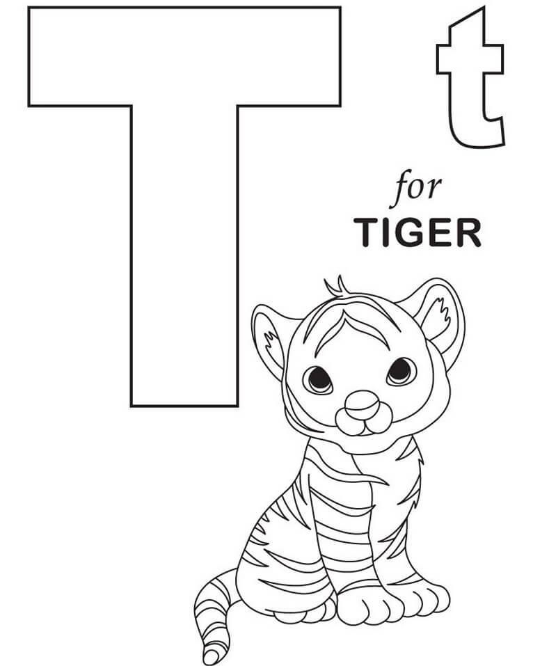 Tiger Letter T 1