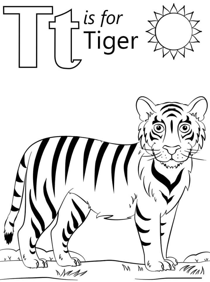 Tiger Letter T
