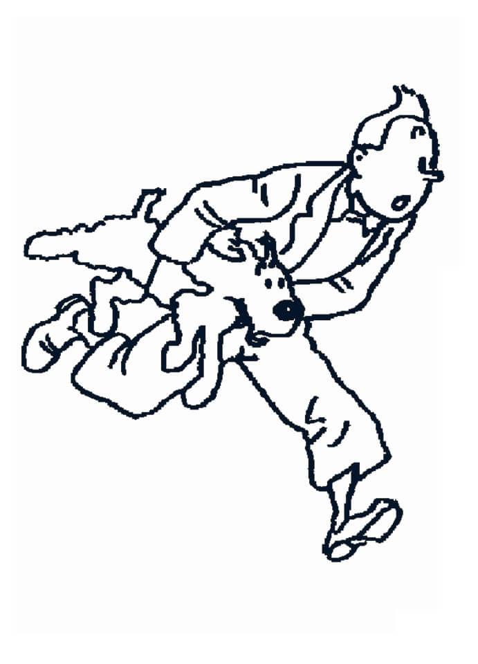 Tintin Holding Snowy