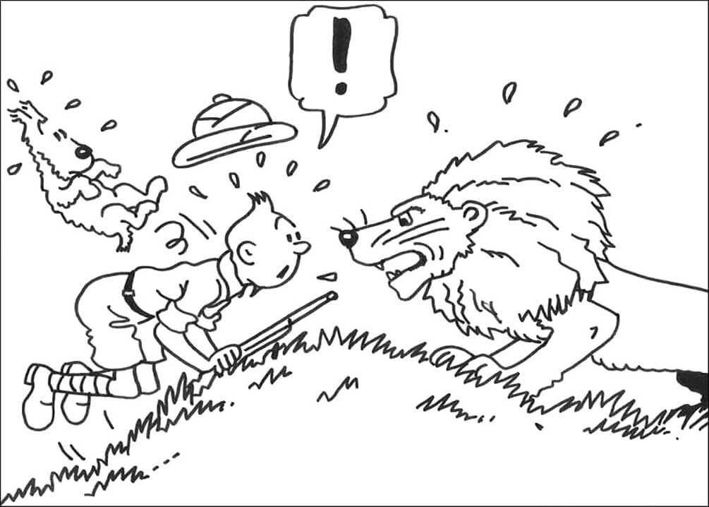 Tintin and Lion
