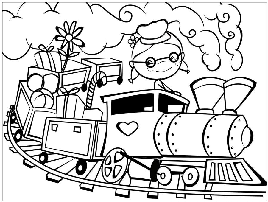 Train in a curve track