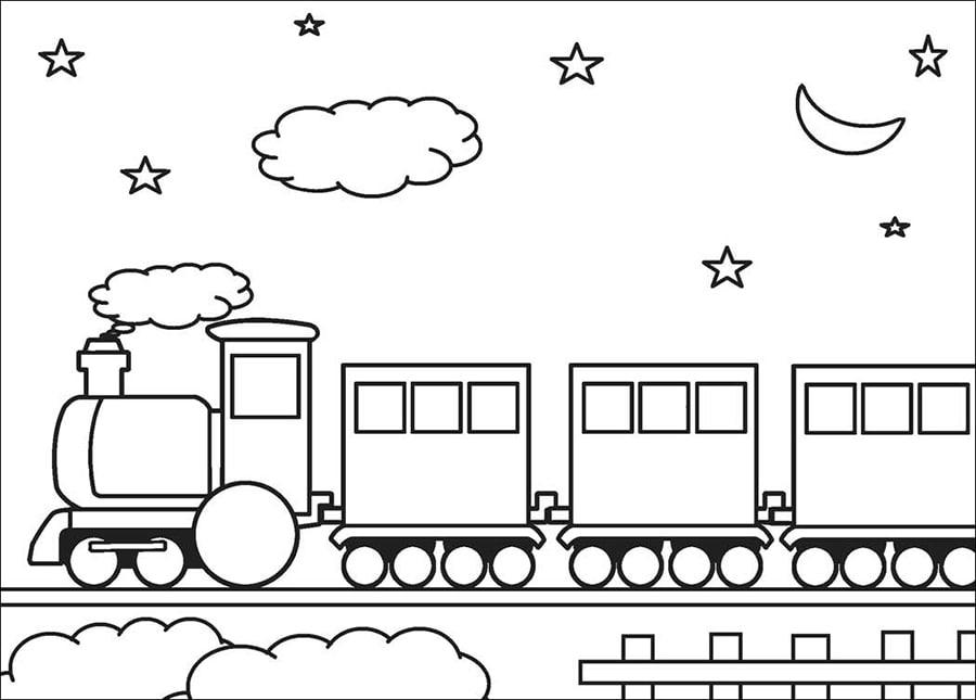 Train in the night