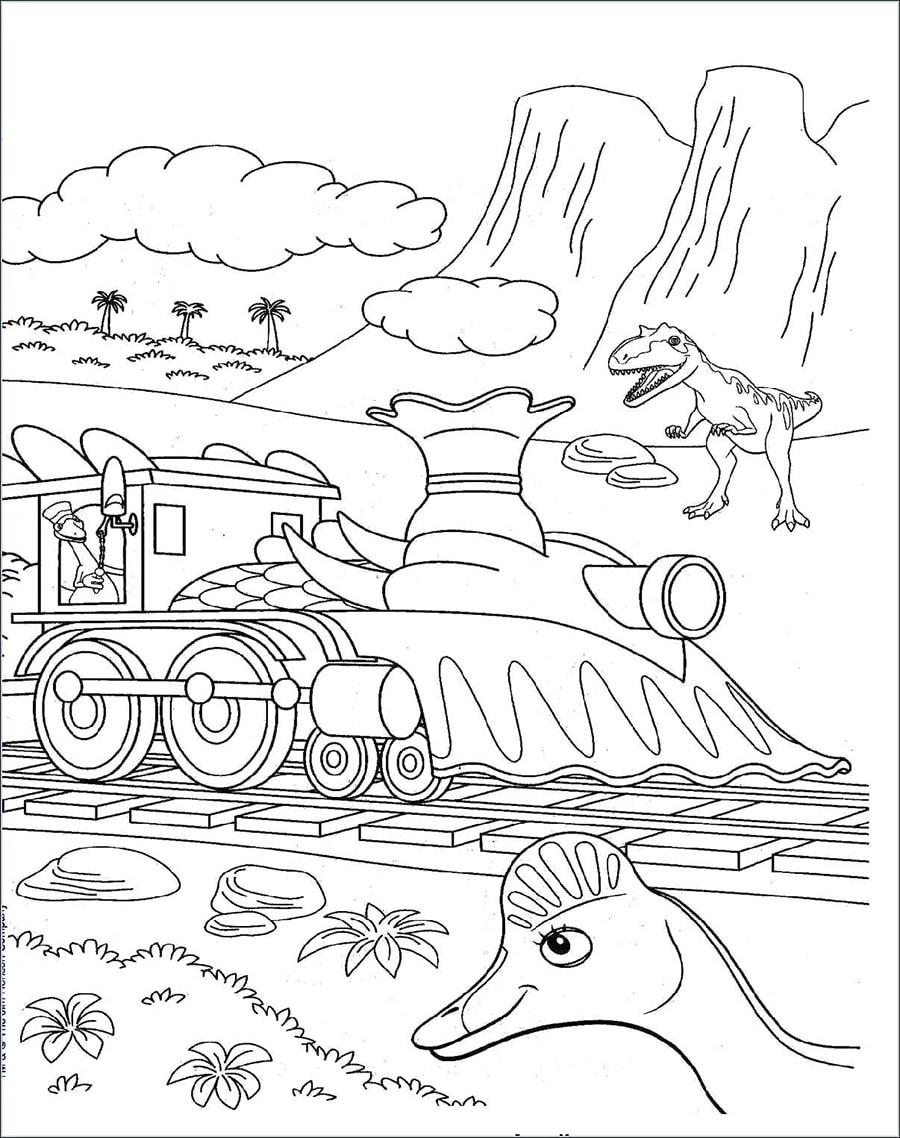 Train with Dinosaur