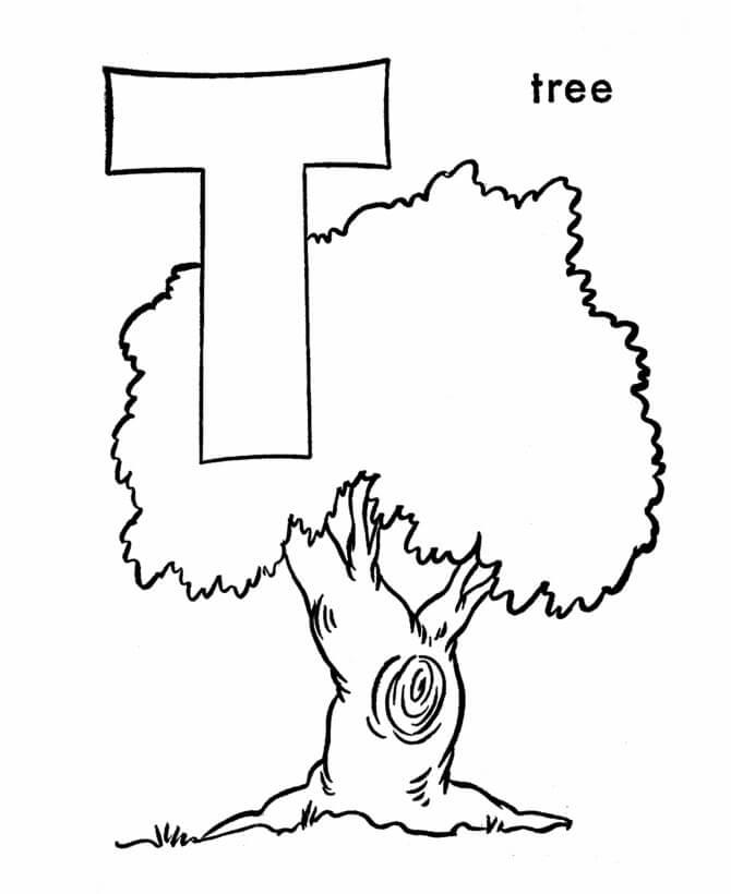Tree Letter T 1