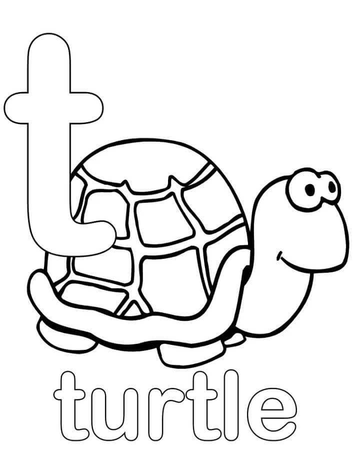Turtle Letter T 1