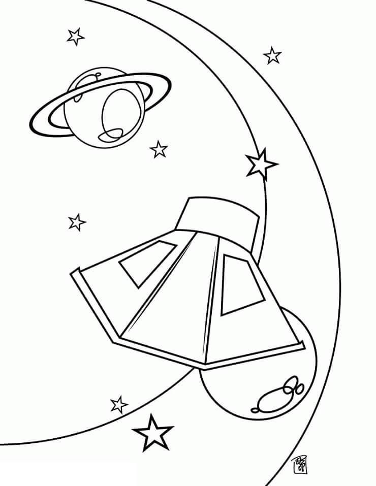 Ufo and Saturn