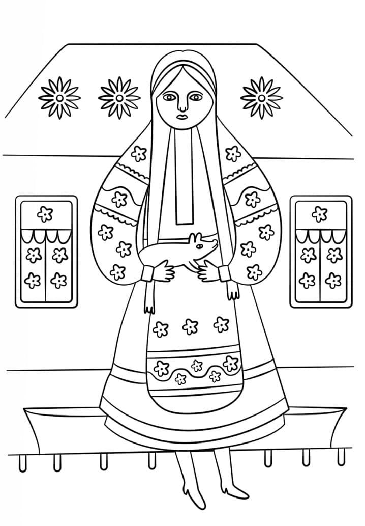 Ukrainian woman from Maria Prymachenko