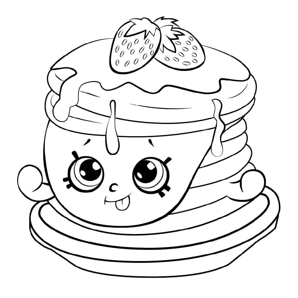 Ultra Rare Strawberry Pancake Shopkin