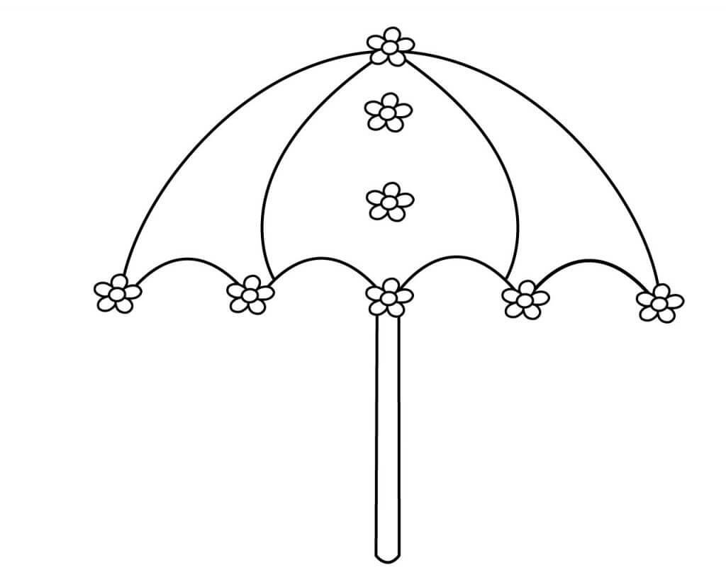 Umbrella with Flowers