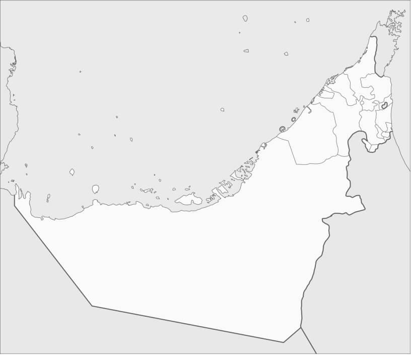 United Arab Emirates's Map