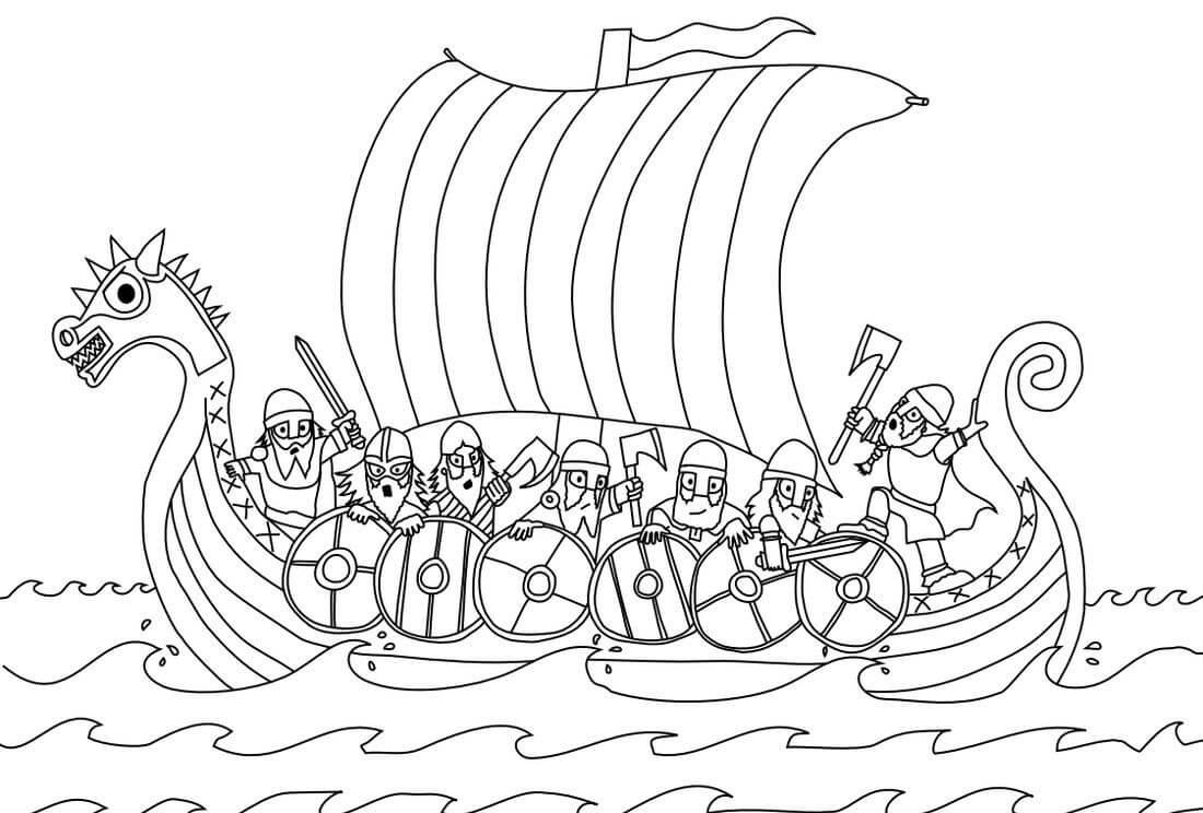 Vikings on Boat