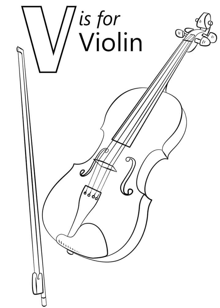 Violin Letter V