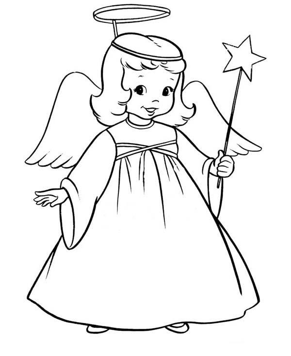 Wingled Angel with Magic Wand