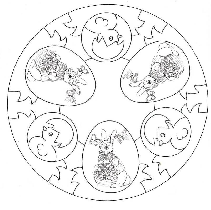 Wonderful Easter Mandala