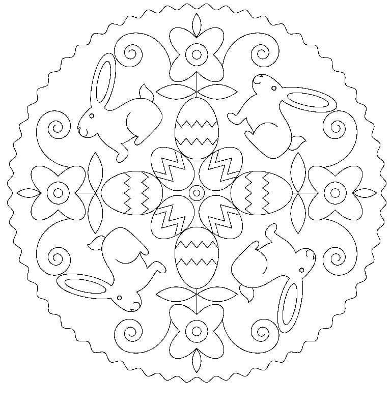 Wonderful Mandala Easter