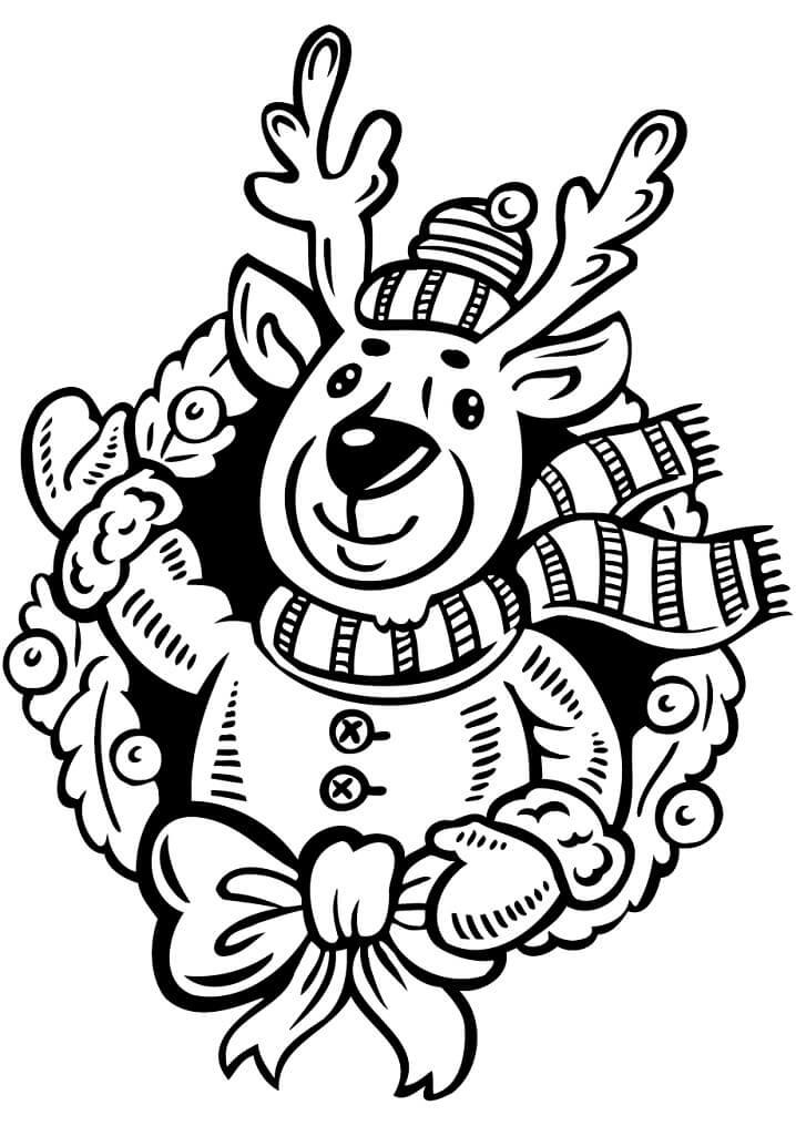 Wreath with Reindeer