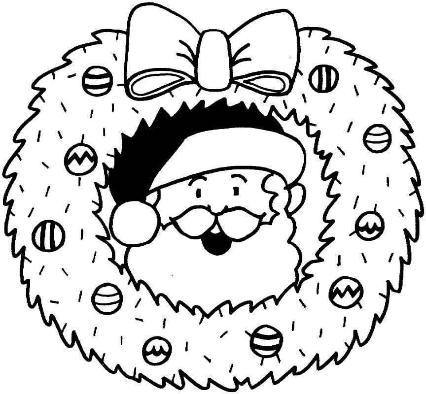 Wreath with Santa