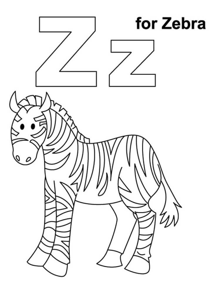 Zebra Letter Z 1
