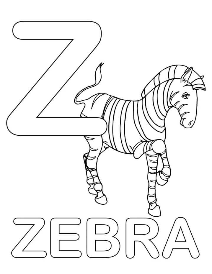 Zebra Letter Z 2