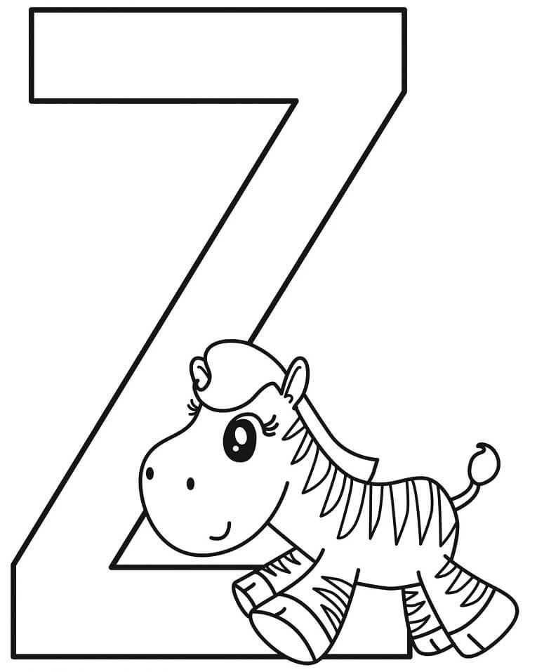 Zebra Letter Z 3