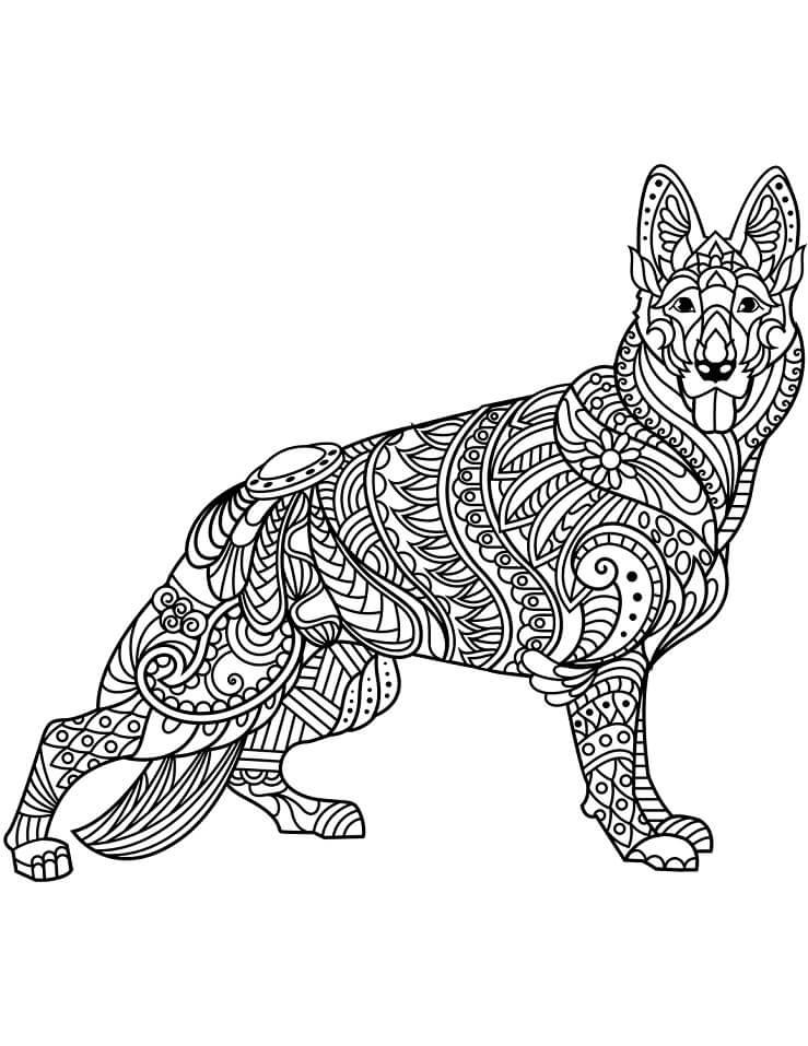 Zentangle German Shepherd