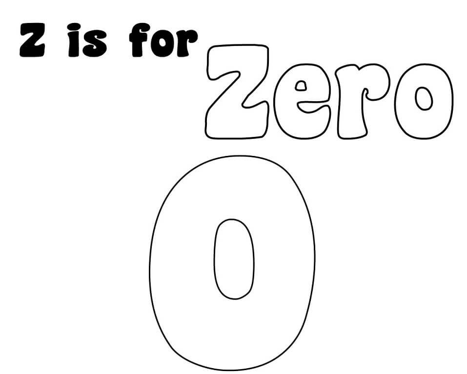 Zero Letter Z