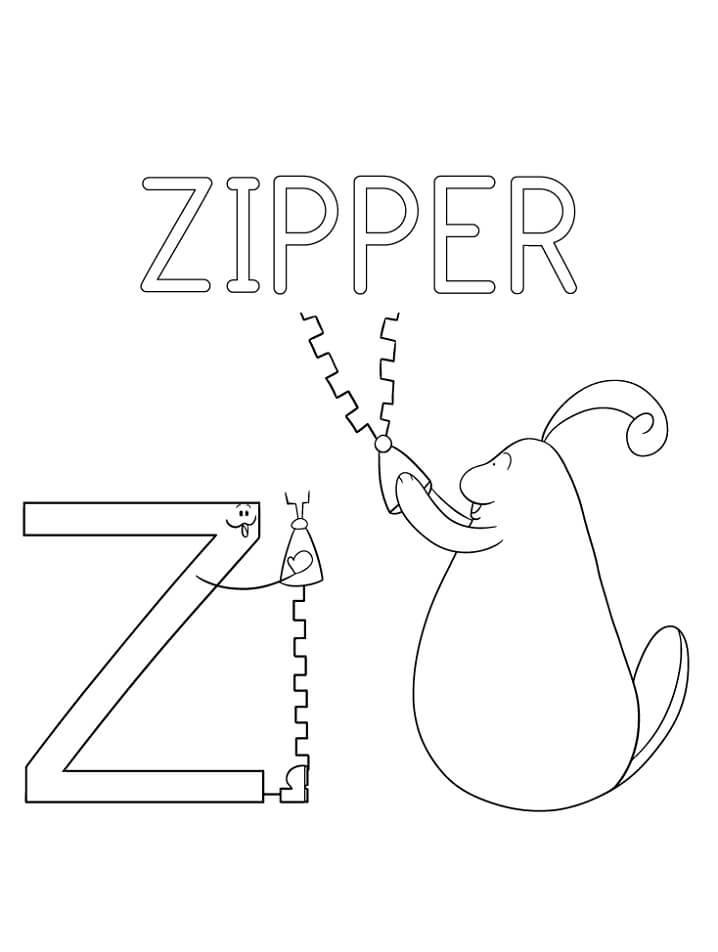 Zipper Letter Z 2
