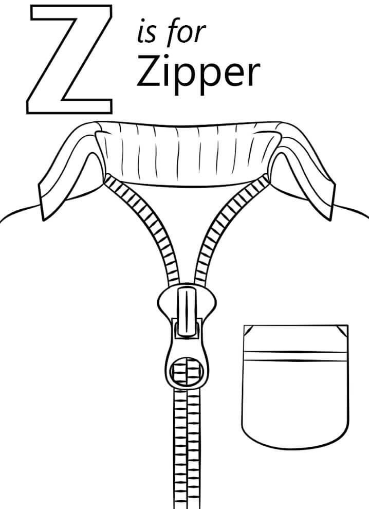 Zipper Letter Z