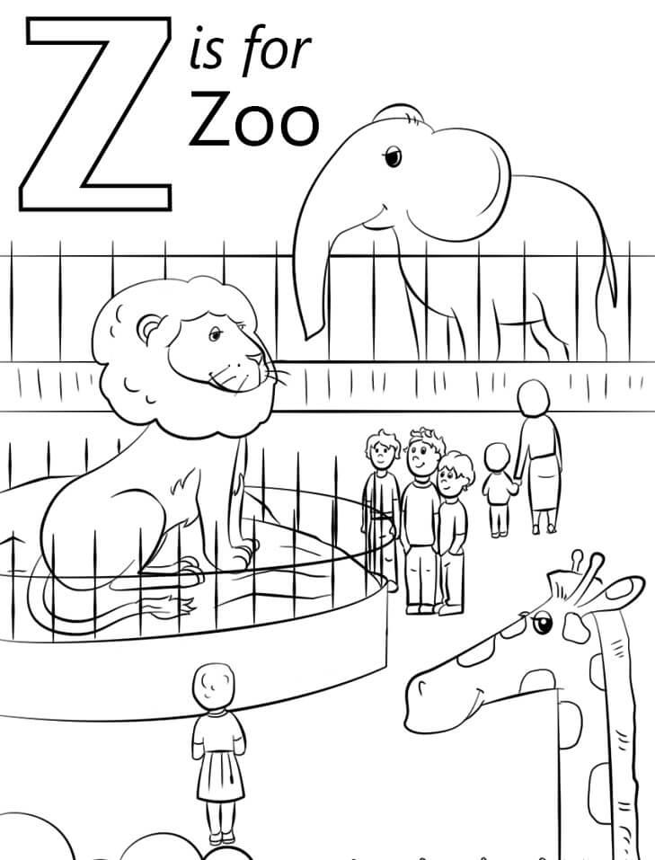 Zoo Letter Z
